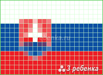 Схема фенечки прямым плетением Словакия