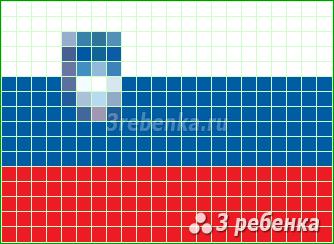 Схема фенечки прямым плетением Словения