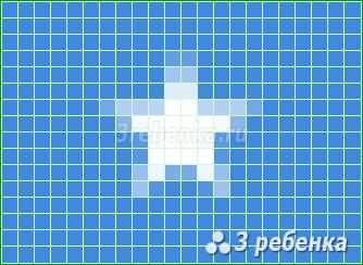 Схема фенечки прямым плетением Сомали