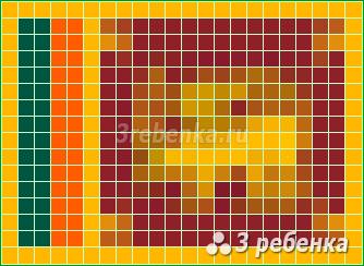 Схема фенечки прямым плетением Шри-Ланка