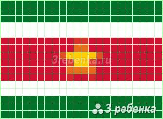 Схема фенечки прямым плетением Суринам