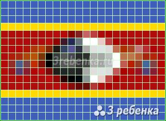 Схема фенечки прямым плетением Свазиленд