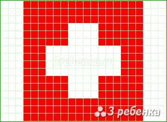 Схема фенечки прямым плетением Швейцария