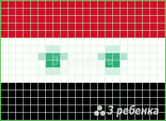 Схема фенечки прямым плетением Сирия