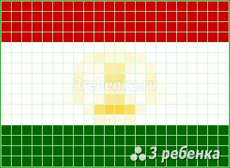 Схема фенечки прямым плетением Таджикистан