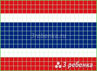 Схема фенечки прямым плетением Таиланд