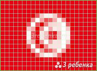 Схема фенечки прямым плетением Тунис