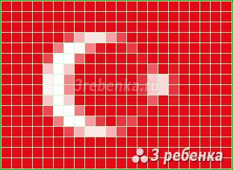 Схема фенечки прямым плетением Турция