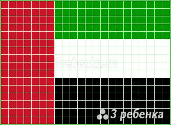 Схема фенечки прямым плетением Объединенные Арабские Эмираты