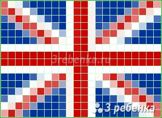 Схема фенечки прямым плетением Соединенное Королевство