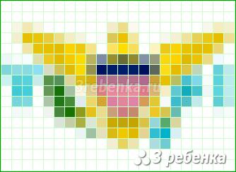 Схема фенечки прямым плетением Виргинские Острова (США)