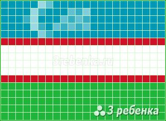 Схема фенечки прямым плетением Узбекистан