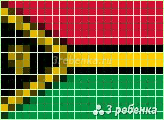Схема фенечки прямым плетением Вануату
