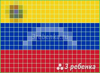 Схема фенечки прямым плетением Венесуэла Боливарианская Республика