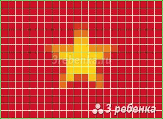Схема фенечки прямым плетением Вьетнам