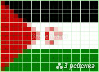 Схема фенечки прямым плетением Западная Сахара