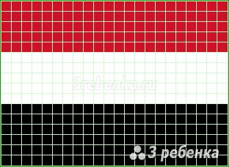 Схема фенечки прямым плетением Йемен