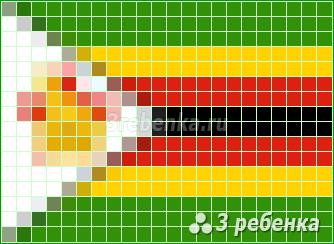 Схема фенечки прямым плетением Зимбабве