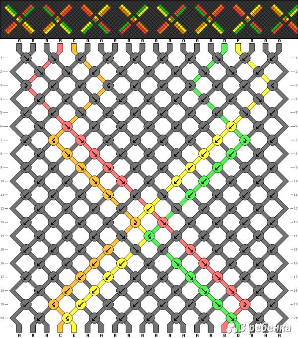 Схема фенечки 17459