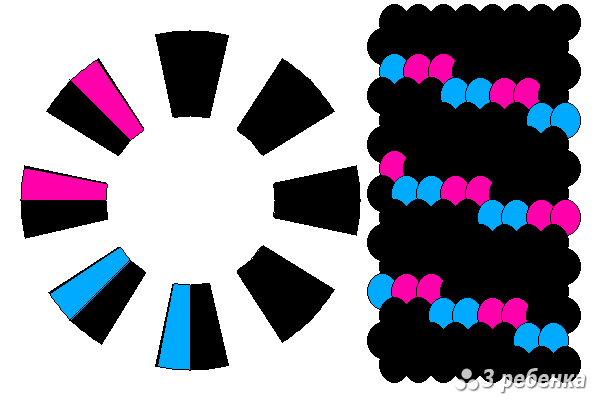 Схема фенечки кумихимо 18646