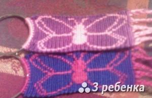 Схема фенечки прямым плетением 18066