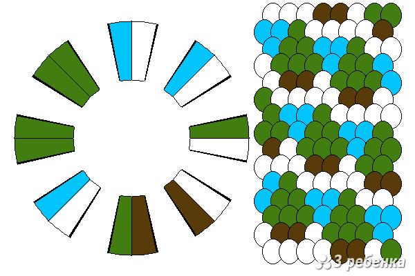 Схема фенечки кумихимо 18556