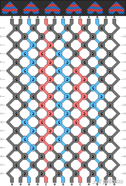 Схема фенечки 17800