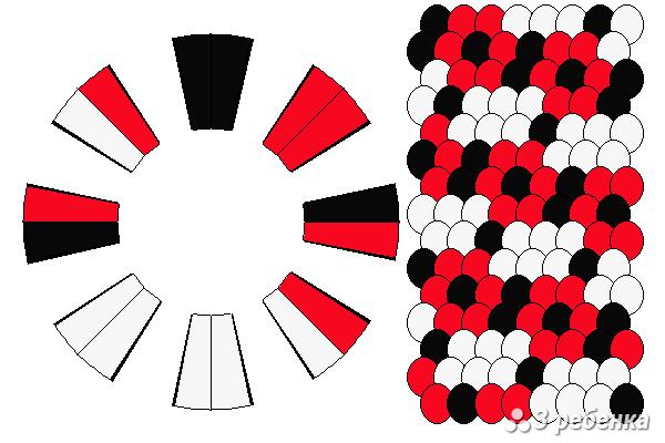 Схема фенечки кумихимо 18708