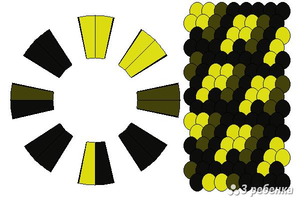 Схема фенечки кумихимо 18540