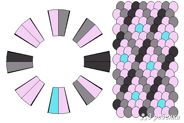 Схема фенечки кумихимо 18531