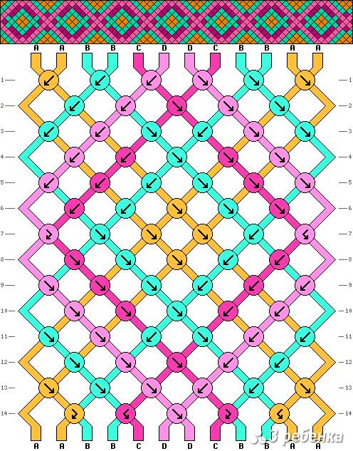 Схема фенечки 17539