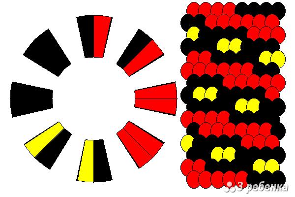 Схема фенечки кумихимо 18650