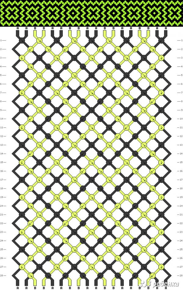 Схема фенечки 17275