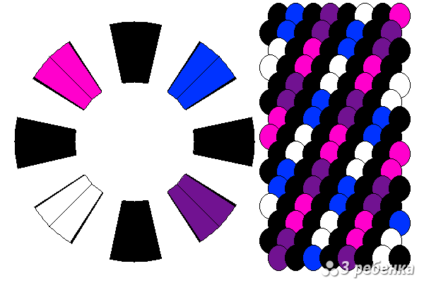 Схема фенечки кумихимо 18527