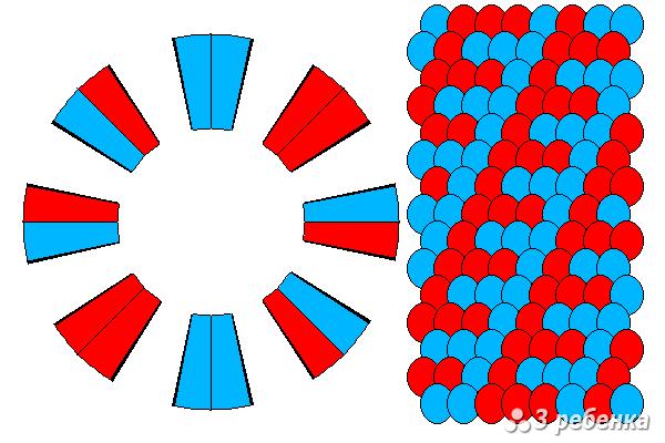 Схема фенечки кумихимо 18519