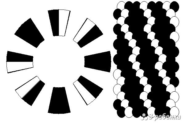 Схема фенечки кумихимо 18592