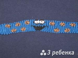Схема фенечки прямым плетением 18460