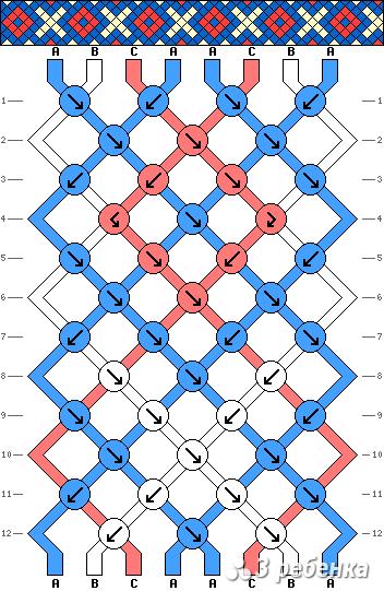 Схема фенечки 17425