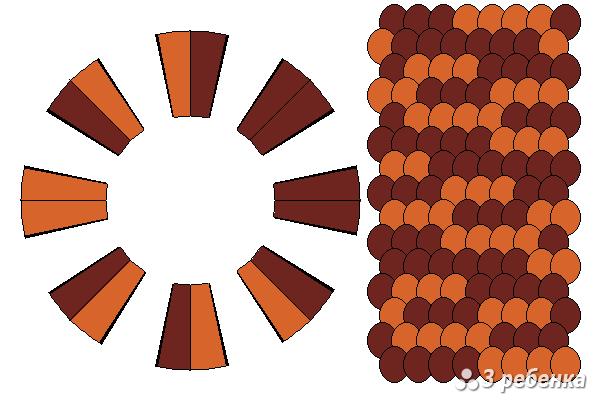 Схема фенечки кумихимо 18691