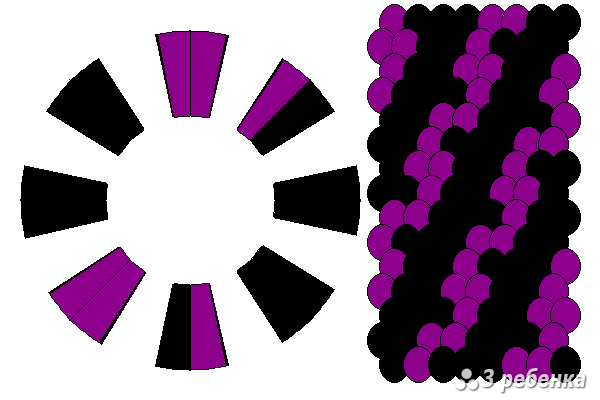 Схема фенечки кумихимо 18584