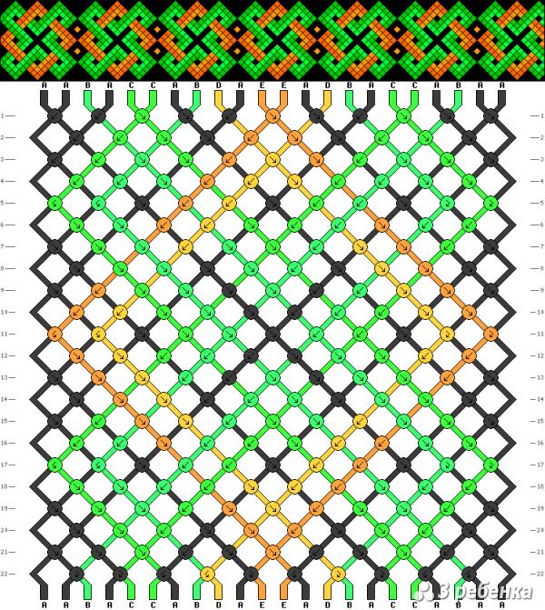 Схема фенечки 17579