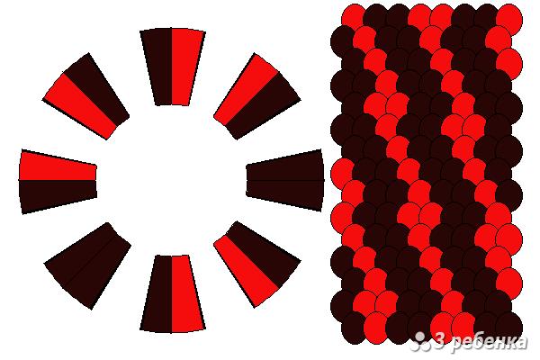 Схема фенечки кумихимо 18854