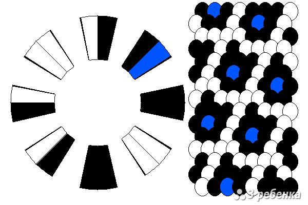 Схема фенечки кумихимо 18655