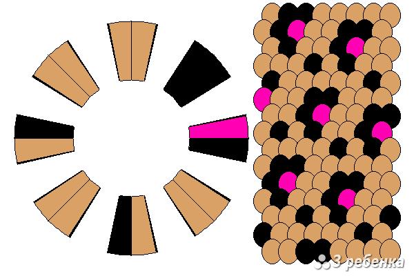 Схема фенечки кумихимо 18818