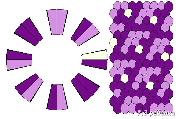 Схема фенечки кумихимо 18768