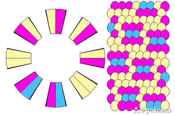 Схема фенечки кумихимо 18760