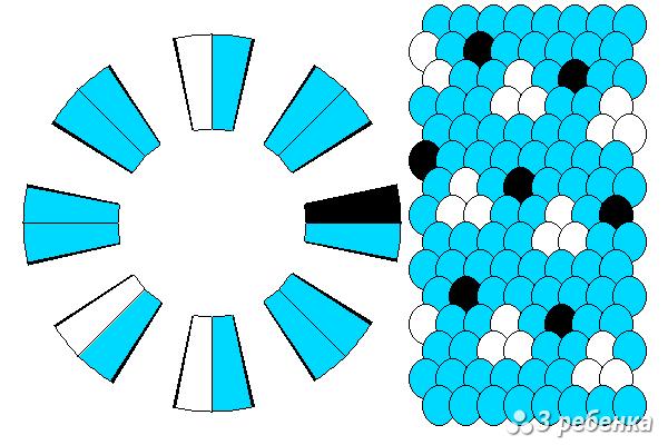 Схема фенечки кумихимо 18580
