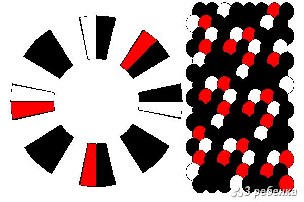 Схема фенечки кумихимо 18736
