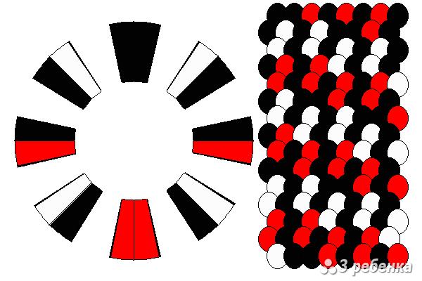 Схема фенечки кумихимо 18728
