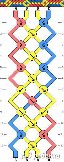 Схема фенечки 17296